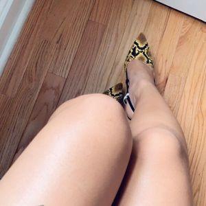 Snake skin 4 inch heels,